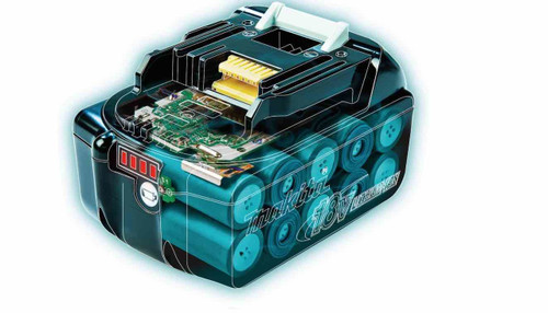 Makita Battery 18V LXT Litium-ion 3.0A BL1830 xray of the powerful LXT technology