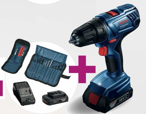 Bosch GSR 180-Li Cordless Drill/Driver Combi and Accessories