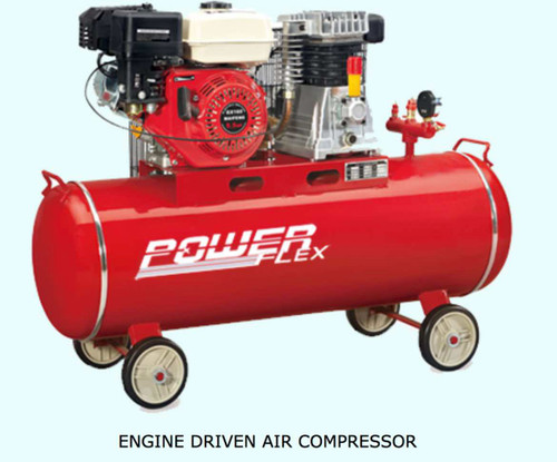 Powerflex Air compressor Gasoline driven 5.5HP 100 liters Tank