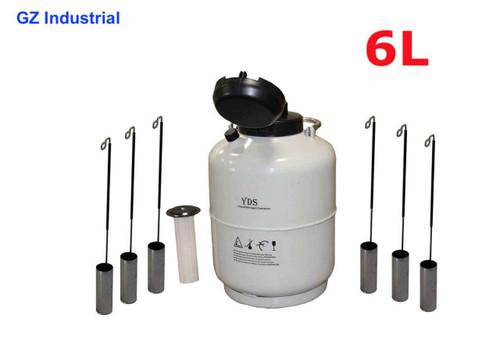6L Cryogenic container for Liquid Nitrogen dewar