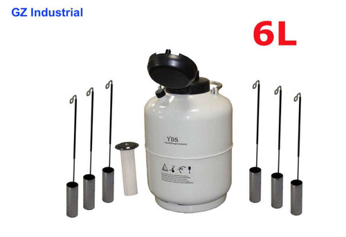 6L Cryogenic container for Liquid Nitrogen dewar