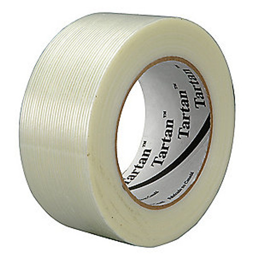 Filament tape , 55m, polypropylene film, clear, thickness 4mil.