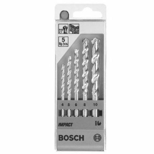 Bosch 5pcs Masonry Drill Bit set-4,5,6,8,10mm.
