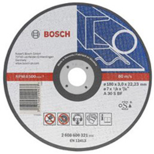 Bosch metal cutting disc   Diameter : 230mm - Bore Size : 22.23mm - Thickness : 1mm