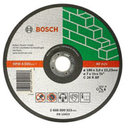Bosch straight stone cutting disc   Diameter : 230mm - Bore Size : 22.23mm - Thickness : 3mm