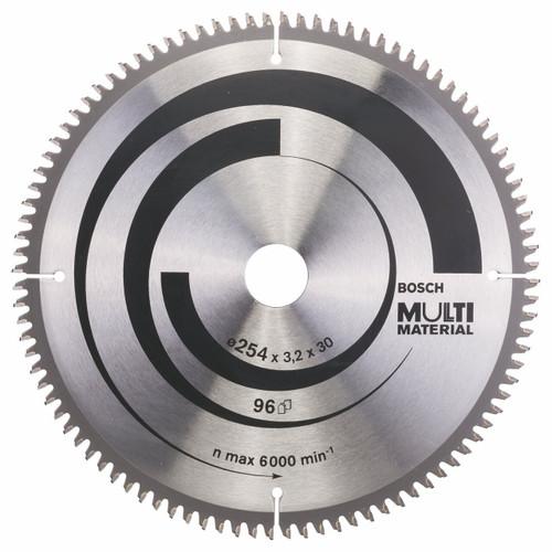 Bosch  Circular Saw Blade Multi Material 254 x 30 x 3.2 mm, 96