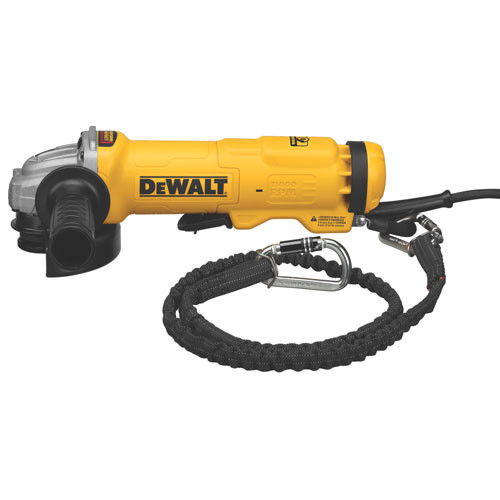 """Dewalt 4.5"""" Small Angle Paddle Switch Angle Grinder with Brake and No-Lock On"""