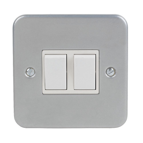 2 Gang switch with metal clad electrical switch