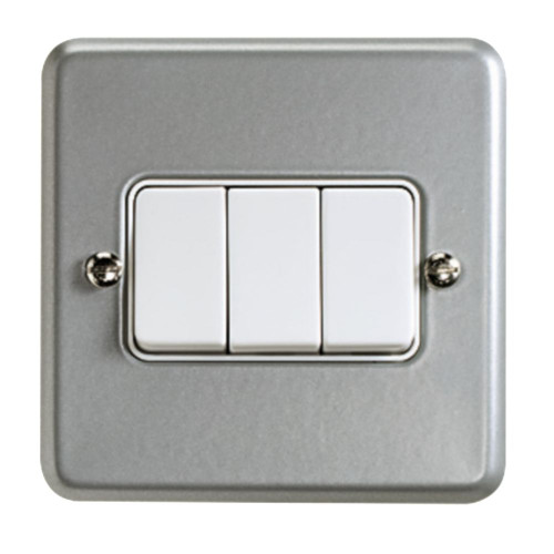 3 GANG SWITCH WITH METAL CLAD ELECTRICAL SWITCH
