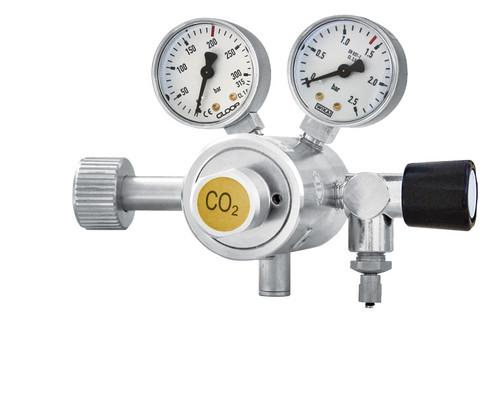 Carbon Dioxide gas regulator- 2 manometers