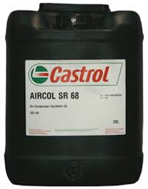 Castrol Aircol SR 68 synthetic air compressor Lubricant 20 liters