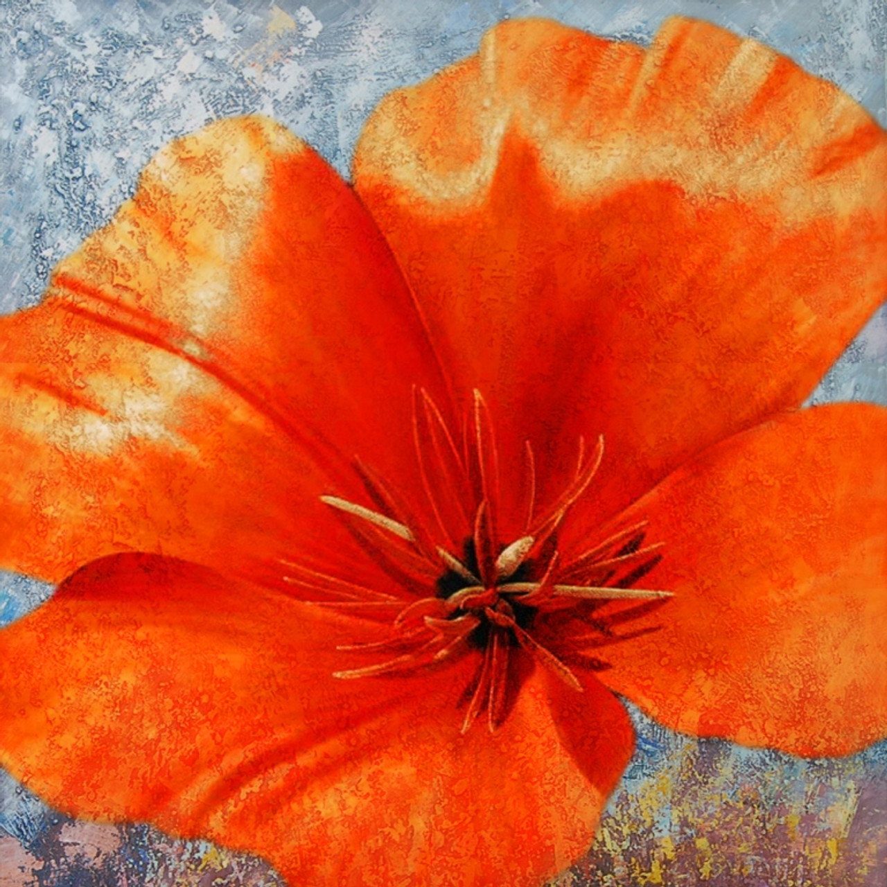 Buy poppy flower 1 by community artists group rs 7290 code poppyflowering plantherbaceous annual biennialshort lived perennial plants mightylinksfo