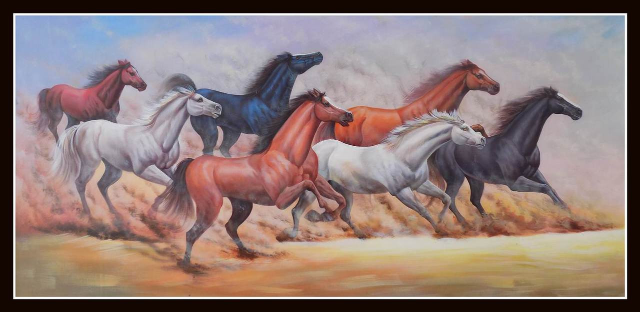 Buy FENGSHUI - HORSE 2 Handmade Painting by PARESH MORE. Code ...