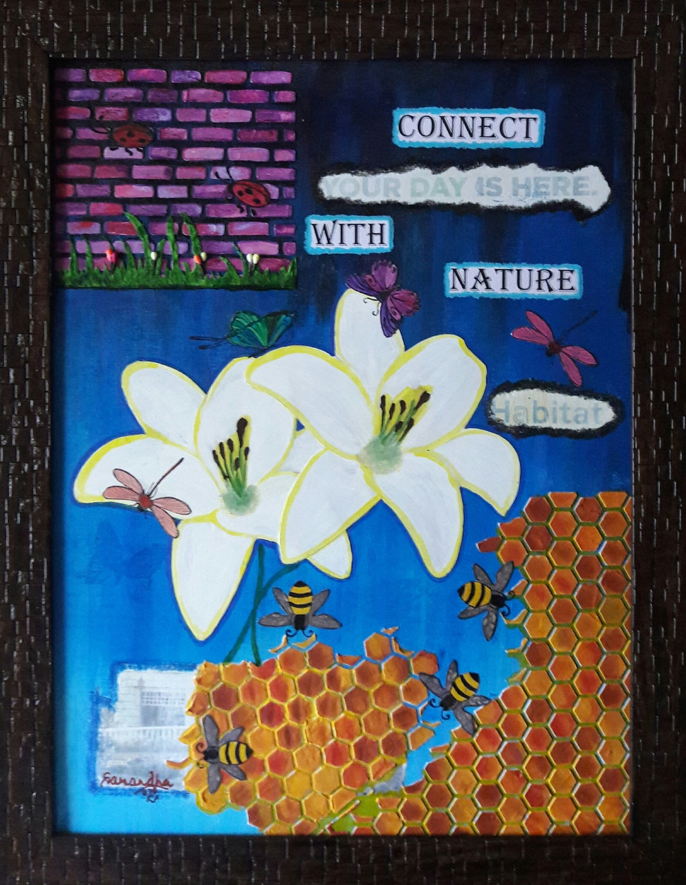 Buy Connect with Nature Handmade Painting by Sarandha D L. Code ...