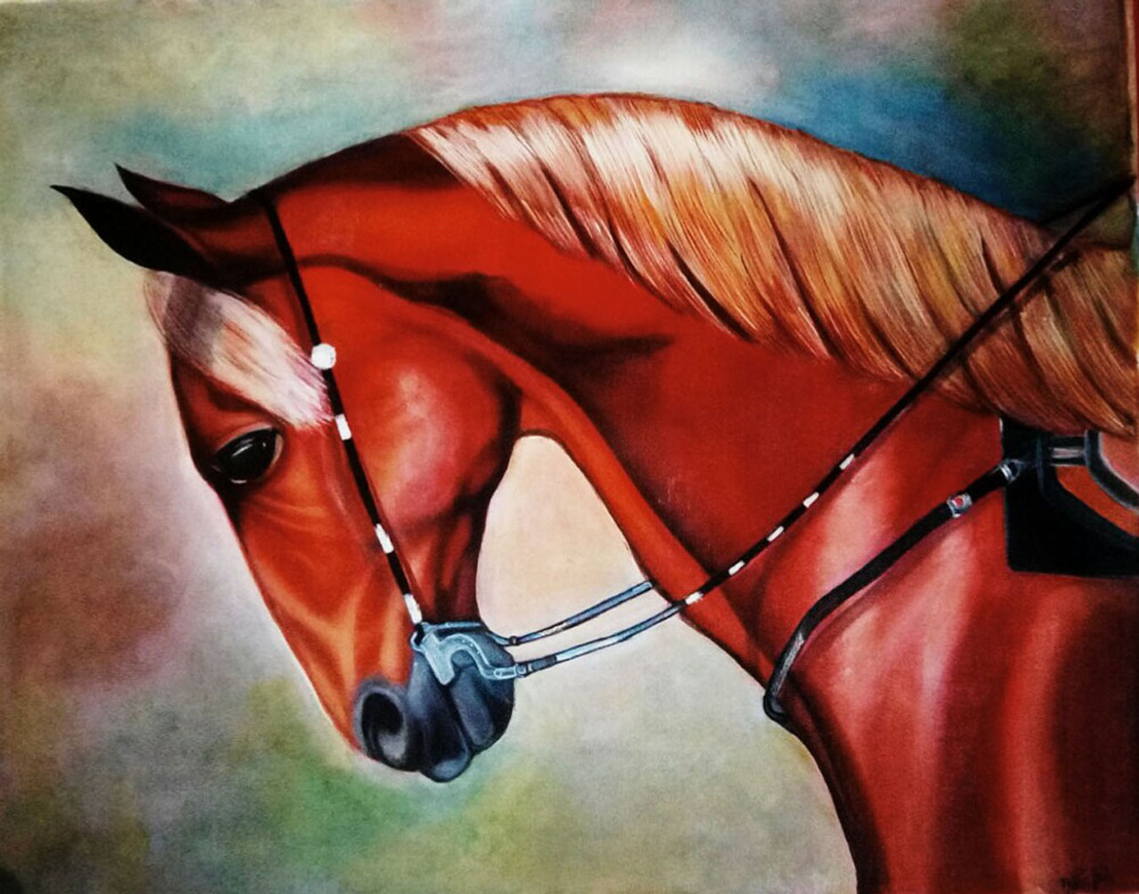 Buy Red Horsesymbol Of Power Success Handmade Painting By Neha