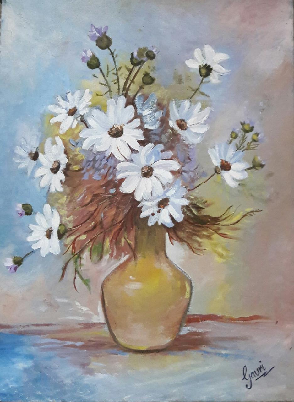 Buy Beautiful Floret Handmade Painting By Anju Agrawal Code