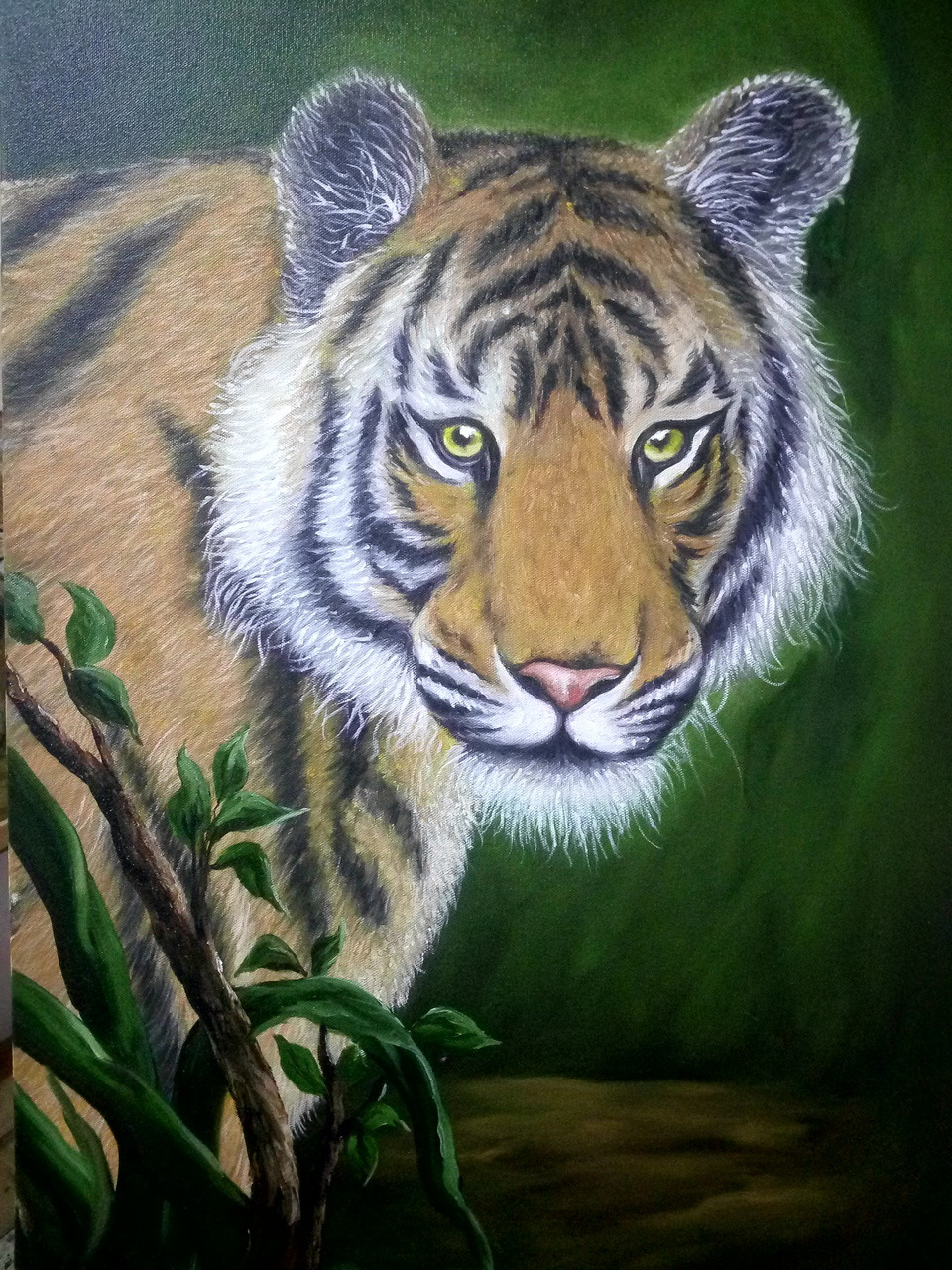 Buy Tiger Handmade Painting By Shekhar Balaiah Codeart181514638