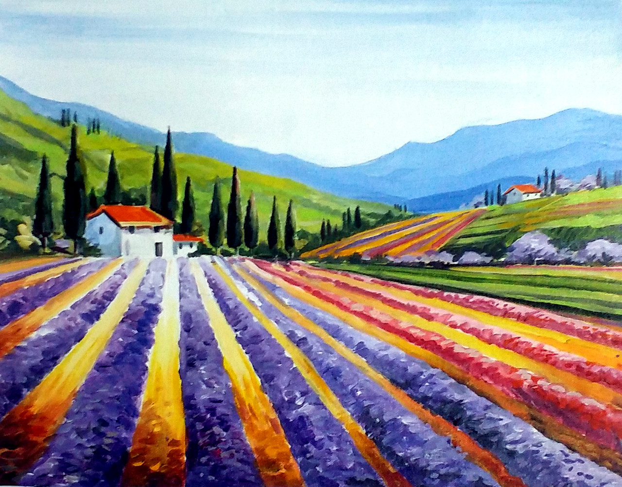 Buy beauty of flowers valley handmade painting by samiran sarkar valleyflowerlandscapeacryliccanvaspaintingnaturebeauty of izmirmasajfo Images