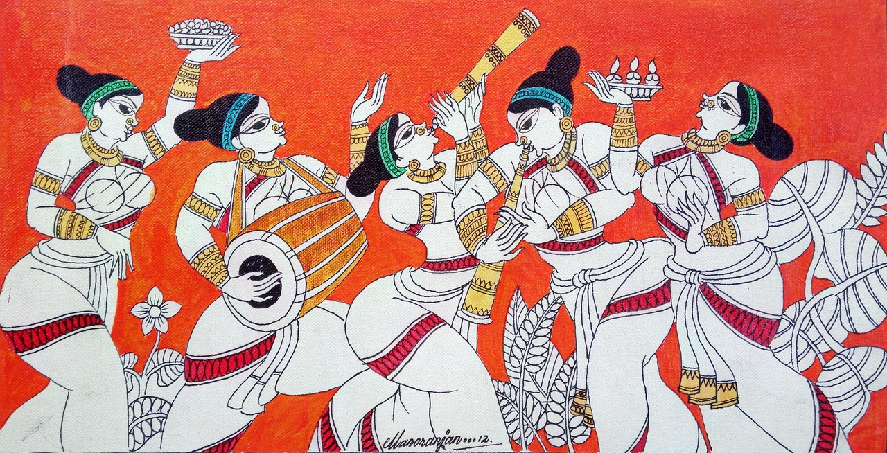 Buy Folk Art Handmade Painting By Dinesh Kumar Code Art