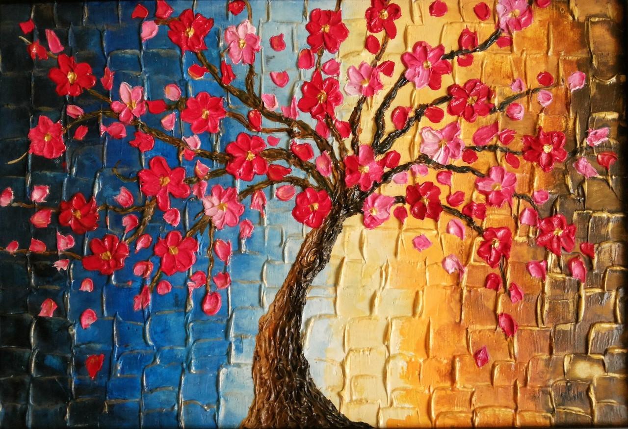 Buy Autumn Flowers Handmade Painting by Nimmi Nanavati. Code ...