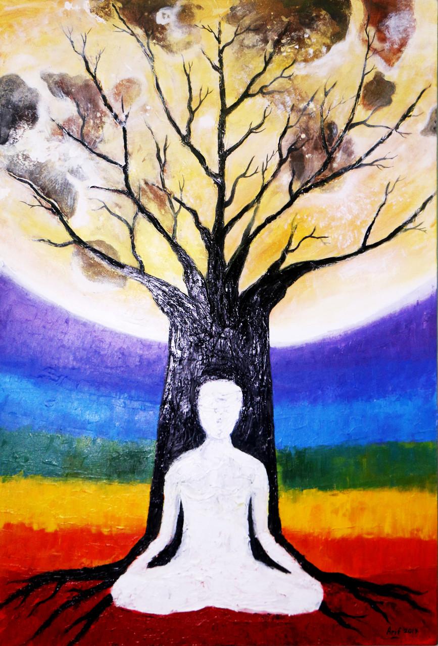 Buy Chakra Meditation Handmade Painting by Arif Ahmed ...