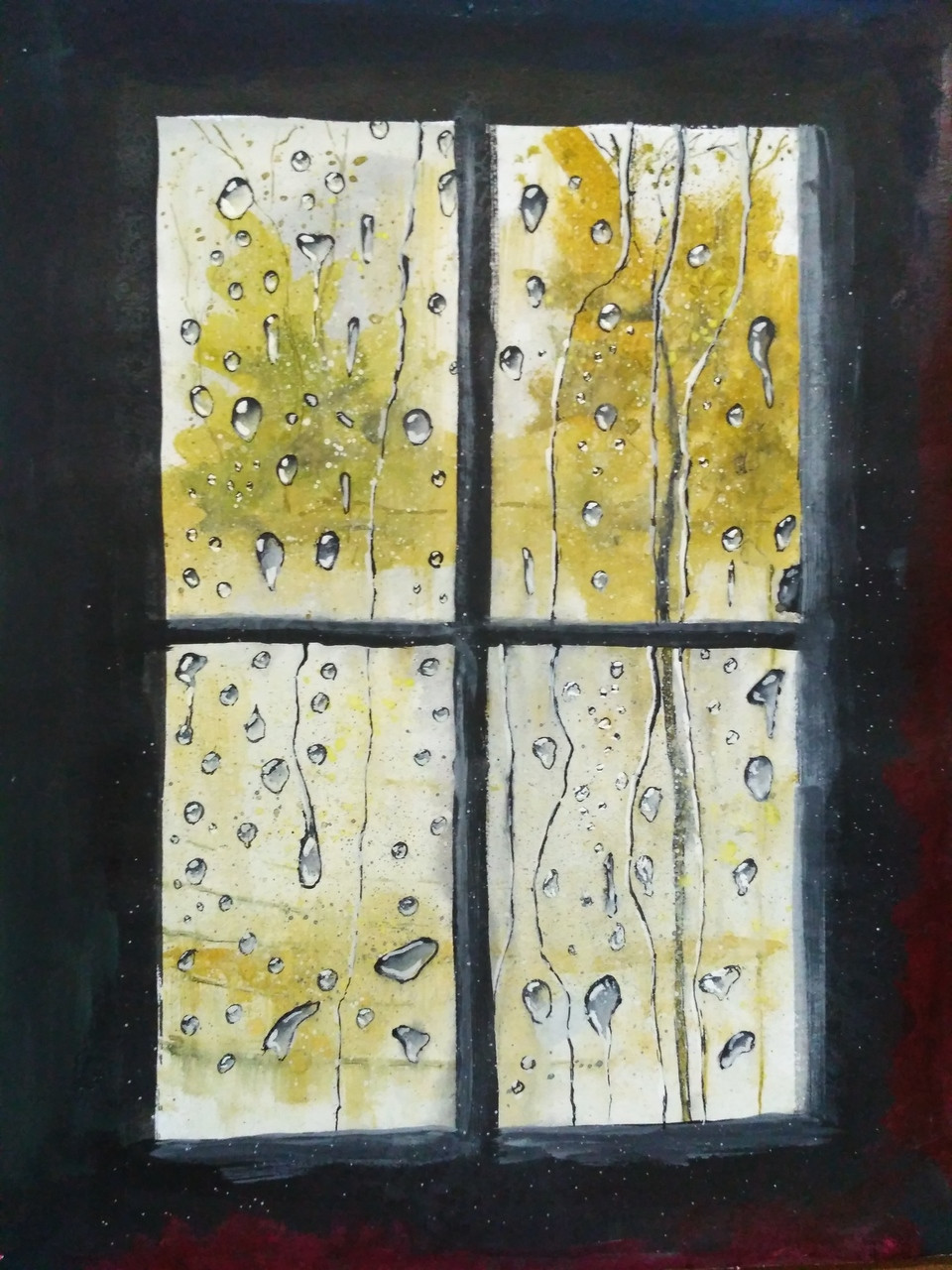 Buy Old Window Handmade Painting by Anirban Kar. Code:ART_2144_17638 ...