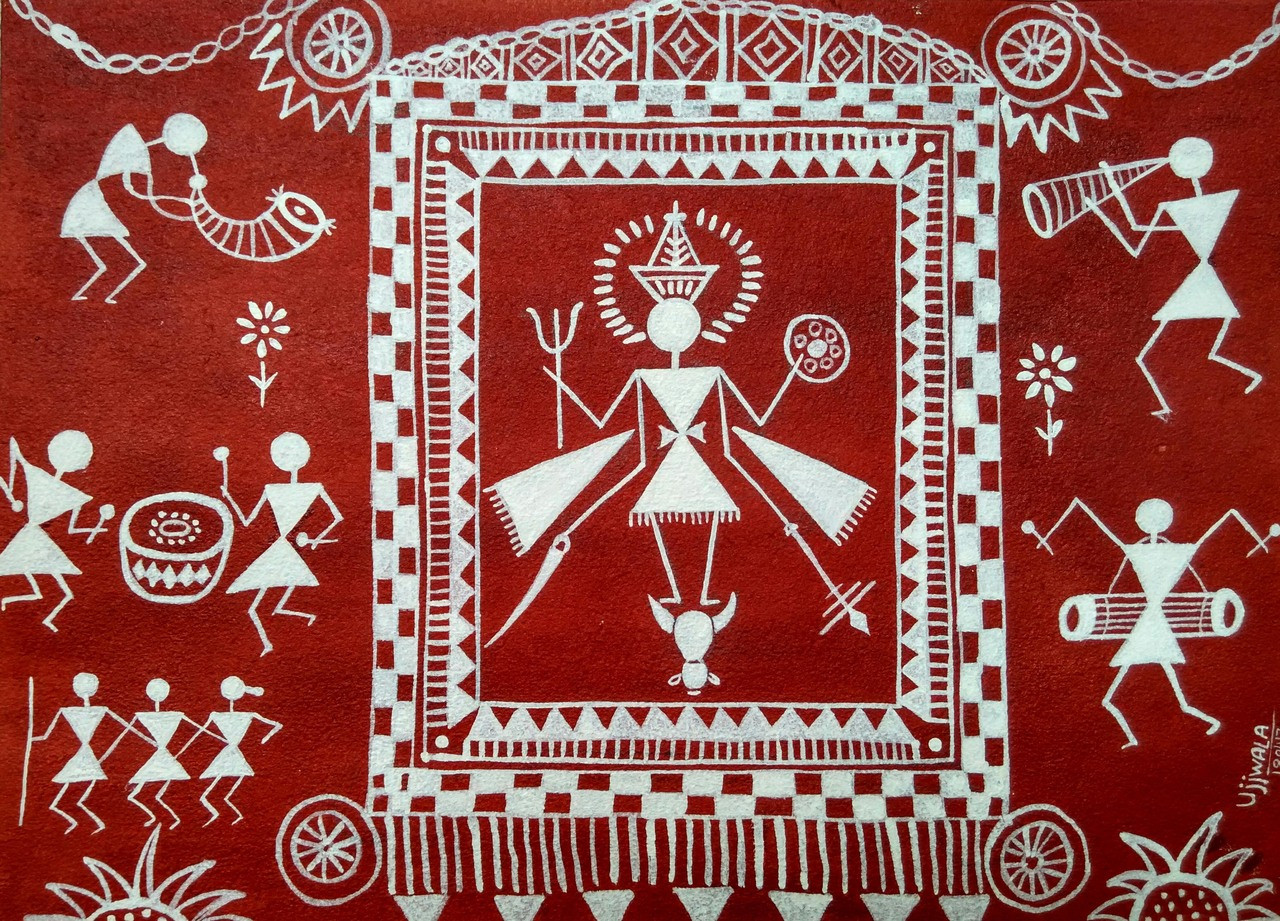 Buy Warli Art 1 Handmade Painting By Ujwala Chavan Code