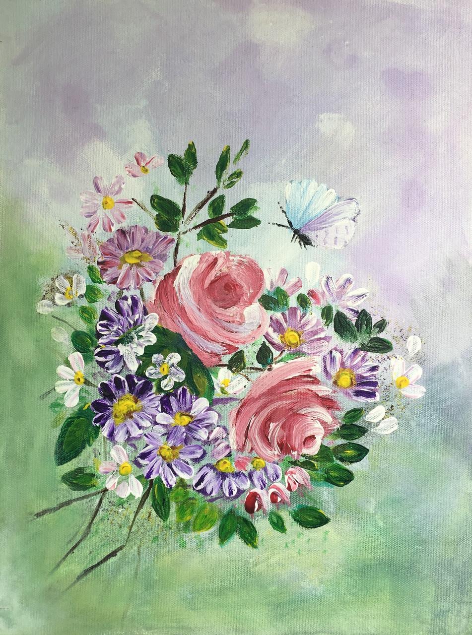Buy Pastel Magic Handmade Painting by Shivangi Khandelwal. Code ...