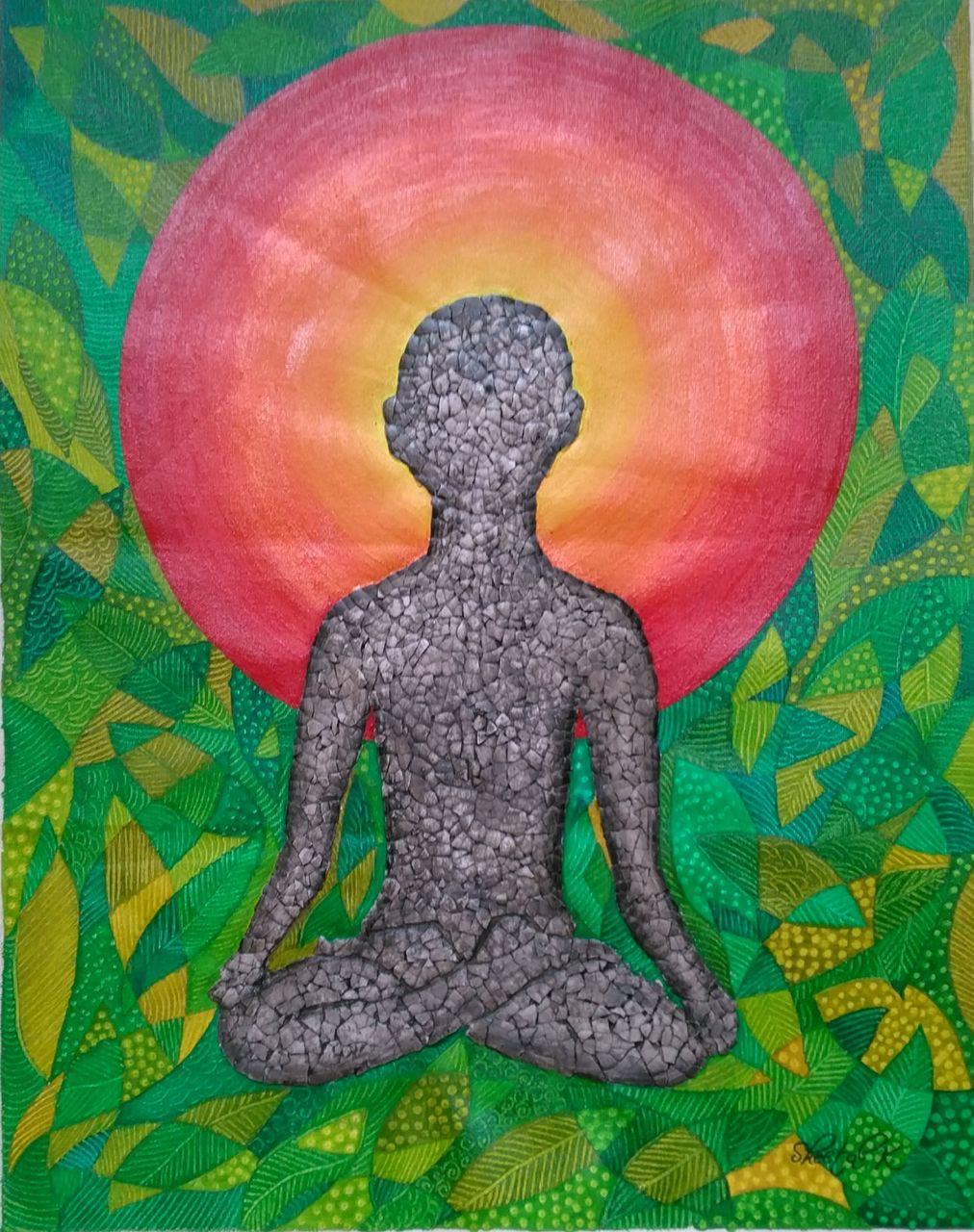 Human Drawing Person Meditating Yoga PaintingHuman DrawingART 1435 15400Artist