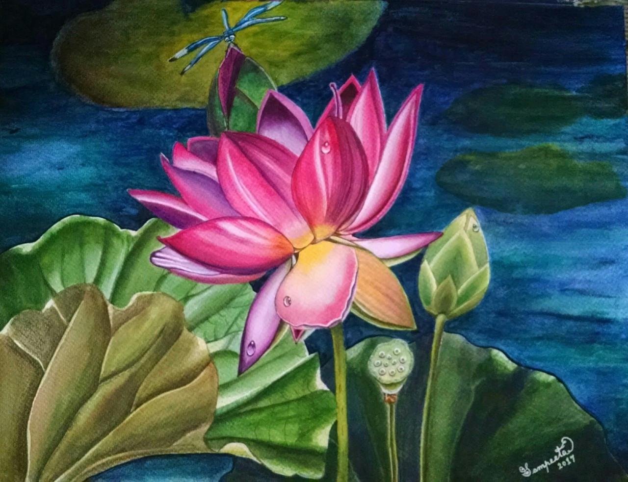Buy My Spirit Handmade Painting By Sampeeta Banerjee Code