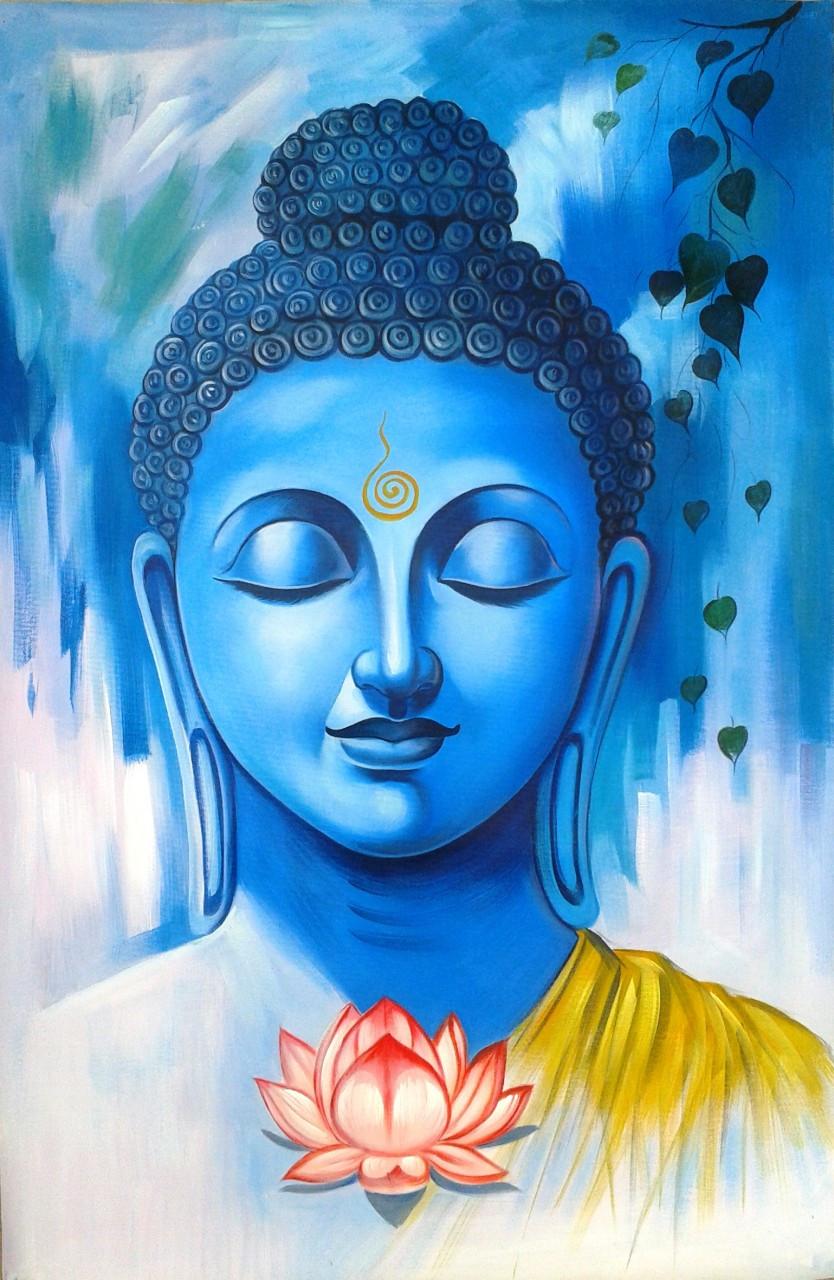 Great Buddha01 24in X 36in Art Rhka01 2436 Acrylic Color