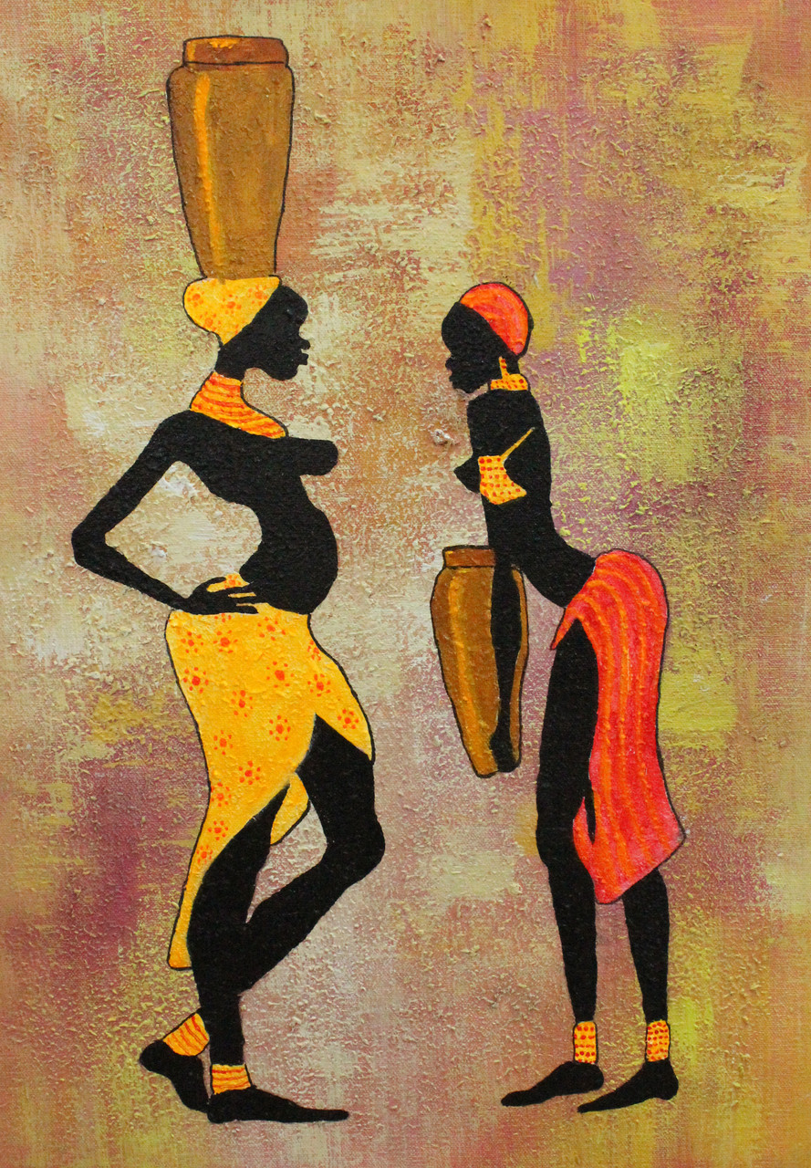Buy African Art 11 Handmade Painting By Ram Achal Code