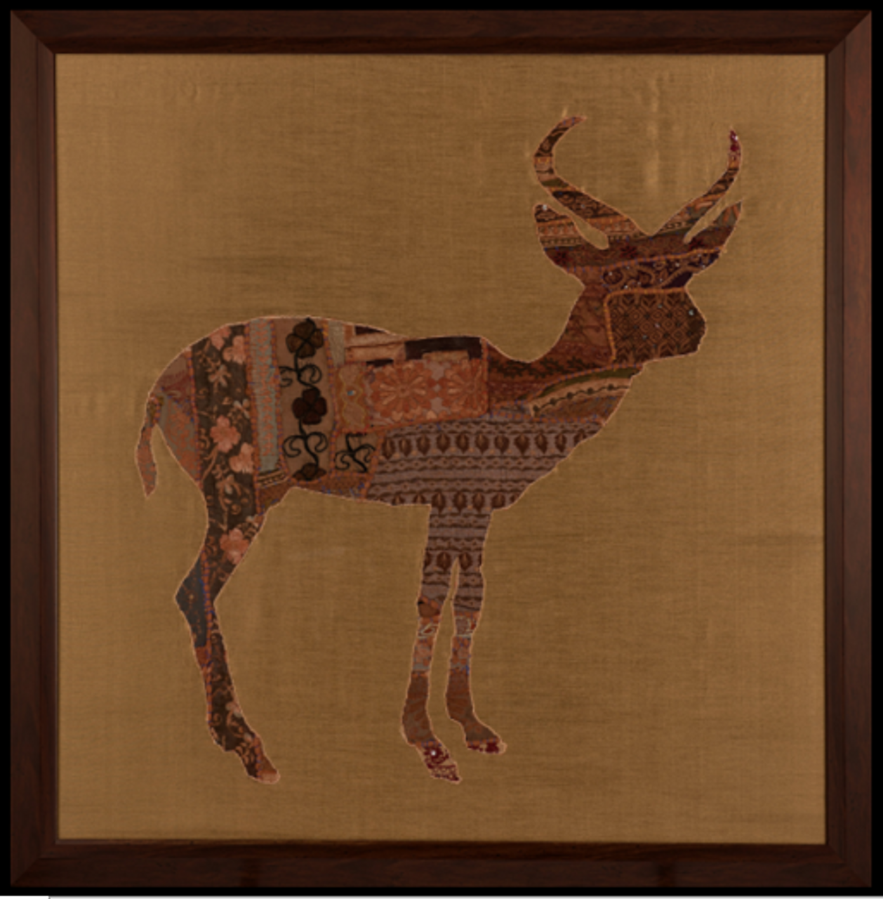 The Dainty Deer Wall Art (ART_3845_24440)   Handpainted Art Painting   41in  X 41in