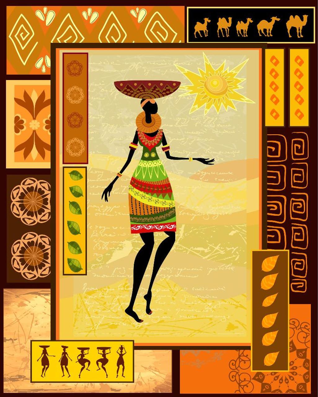 Shop African Tribal Wall Art (PRT_531) - Canvas Art Print - 21in X ...