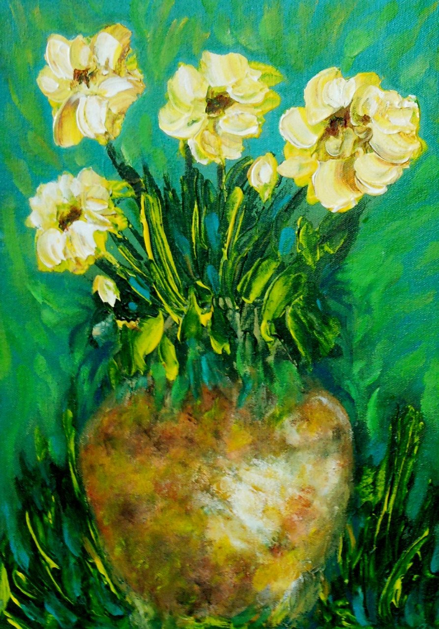 Vase 02 11in x 16in canvas boardartkisl021116acrylic colors flower vase 02 11in x 16in canvas boardartkisl021116acrylic colorsartist kakali sanyalwhite flowersflower potbeauty of izmirmasajfo Images