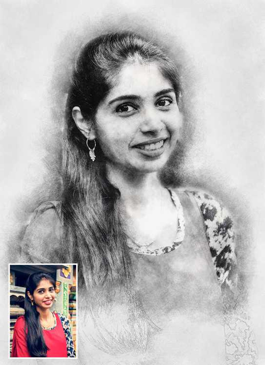 Order Pencil Sketch Portrait Online from India