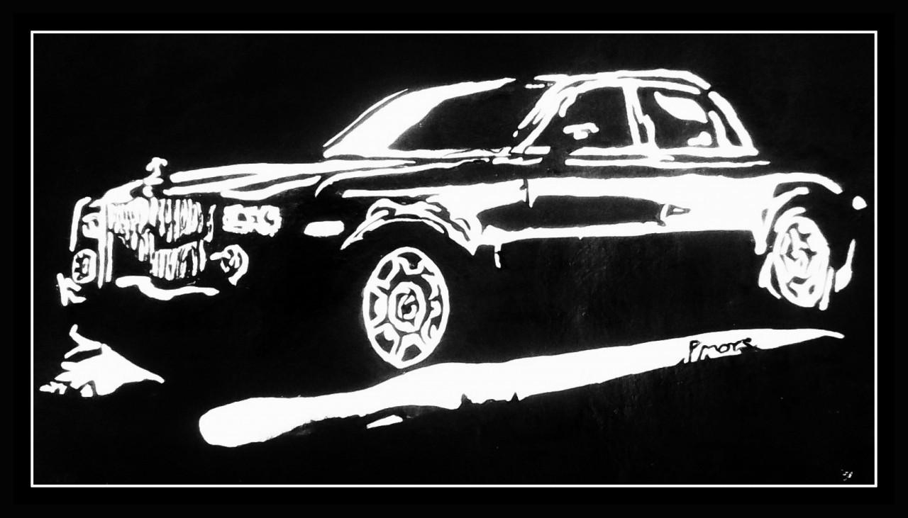 Vintage Car - 21in X 12in (Border Framed),ART_PHME21_2112,Artist ...