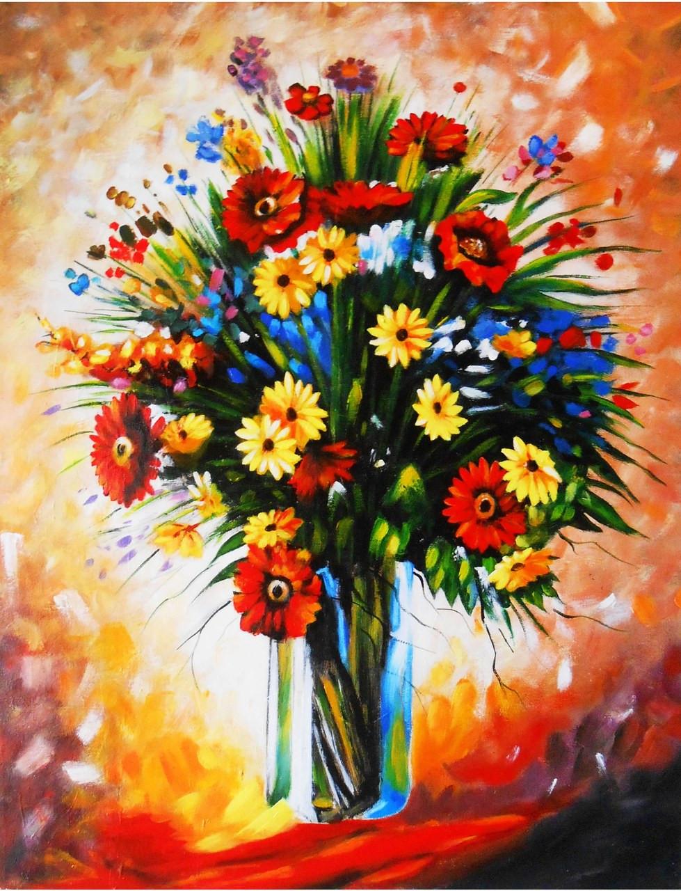 Buy Muticolor Flower Vase 2 By Shrikant Patekar Rs 4590 Code