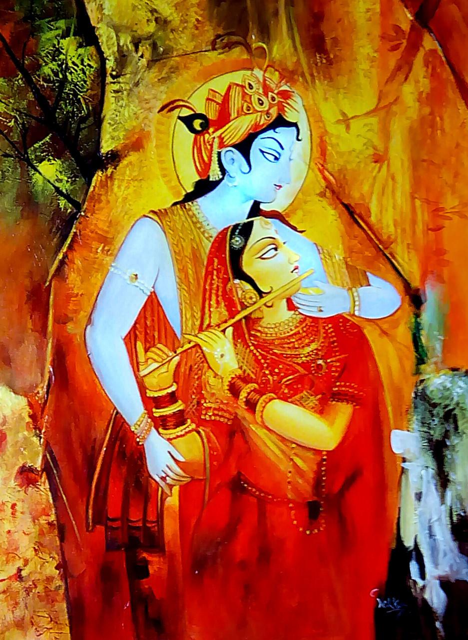 Buy Radha Krishna Flower By Vekkas Mahalley Rs 7190