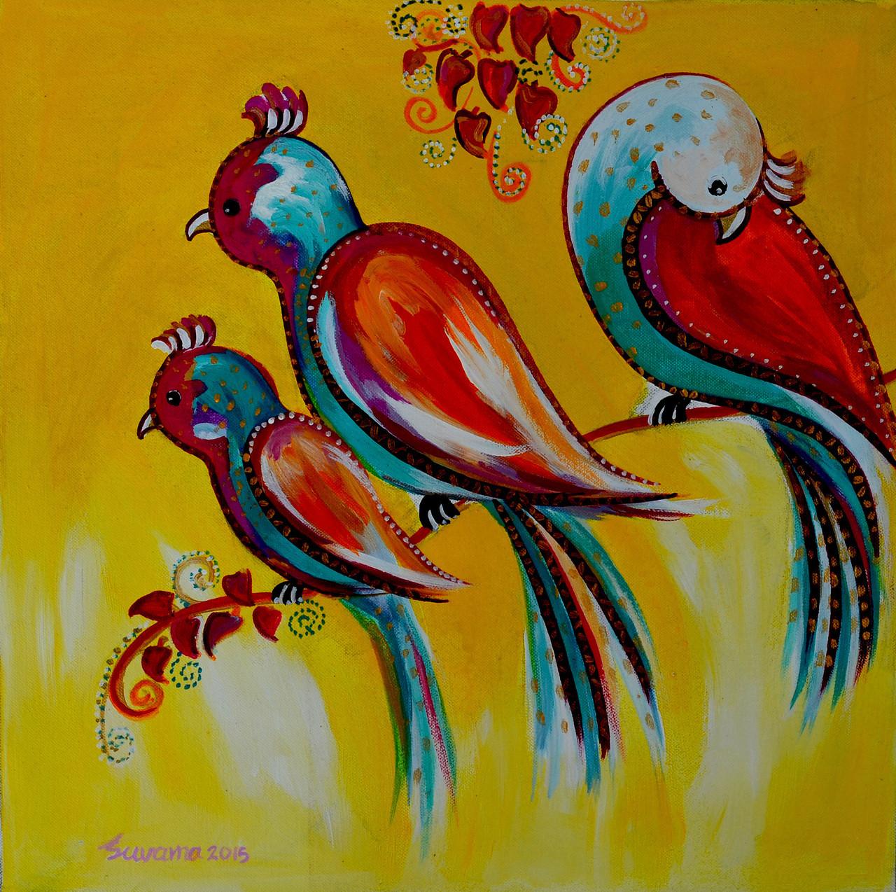 Buy Bird Pair 3 by Suvarna Sable@ Rs. 4590. Code:ART_SASE14_1515 ...