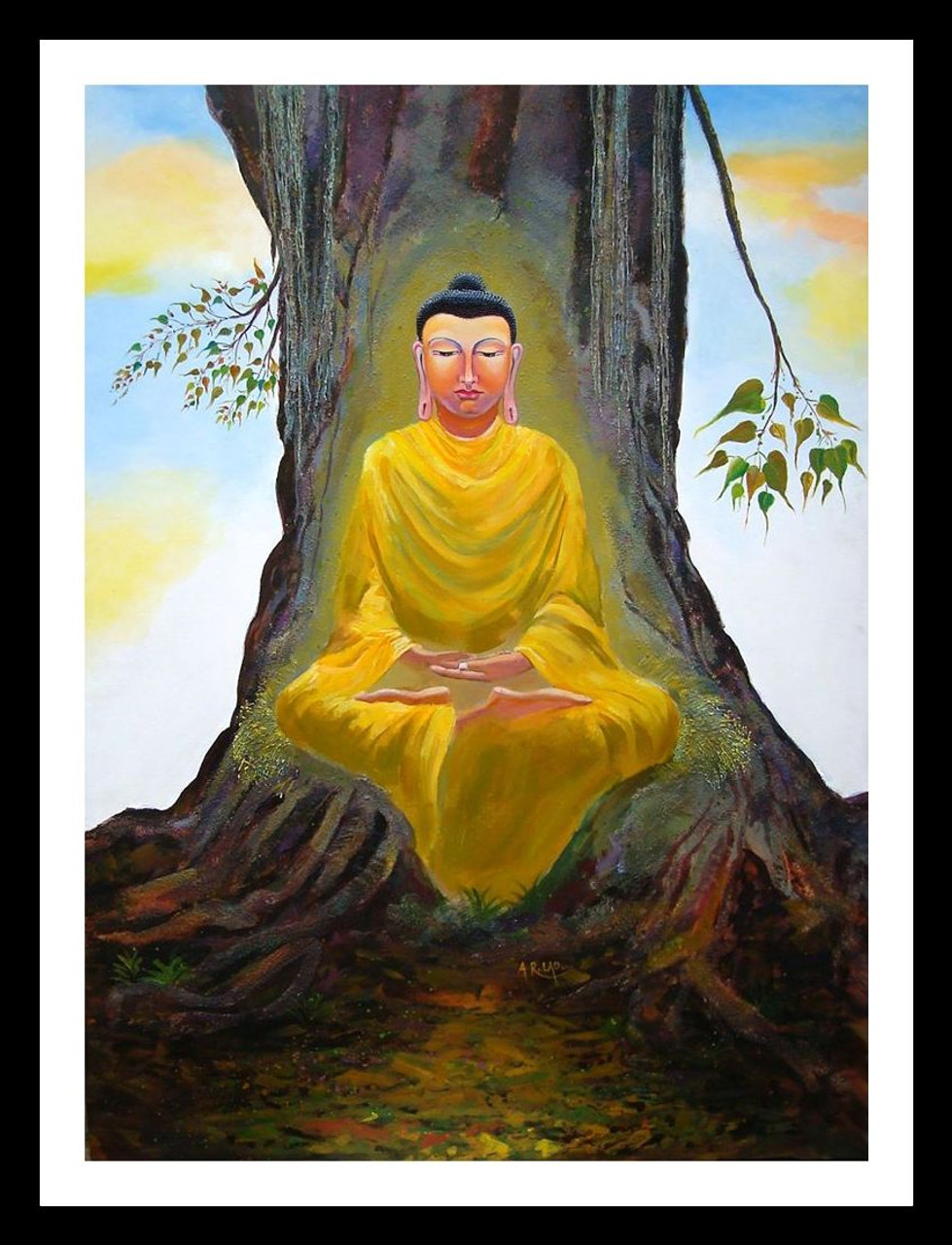 Buy Meditating Buddha by Anand Lad@ Rs. 364390. Code:ART_ADLD07_3648 ...