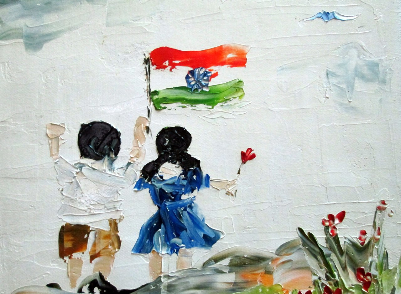 Buy Republic Day By Neeta Bhapkar Rs 4090 Code Art