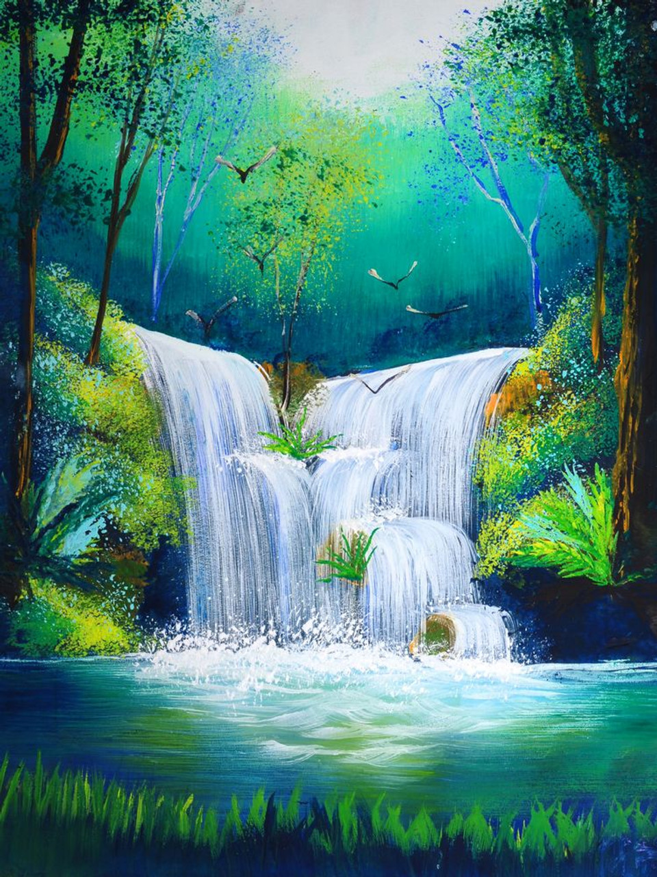 Buy Waterfall And Greenery by Community Artists Group@ Rs ...