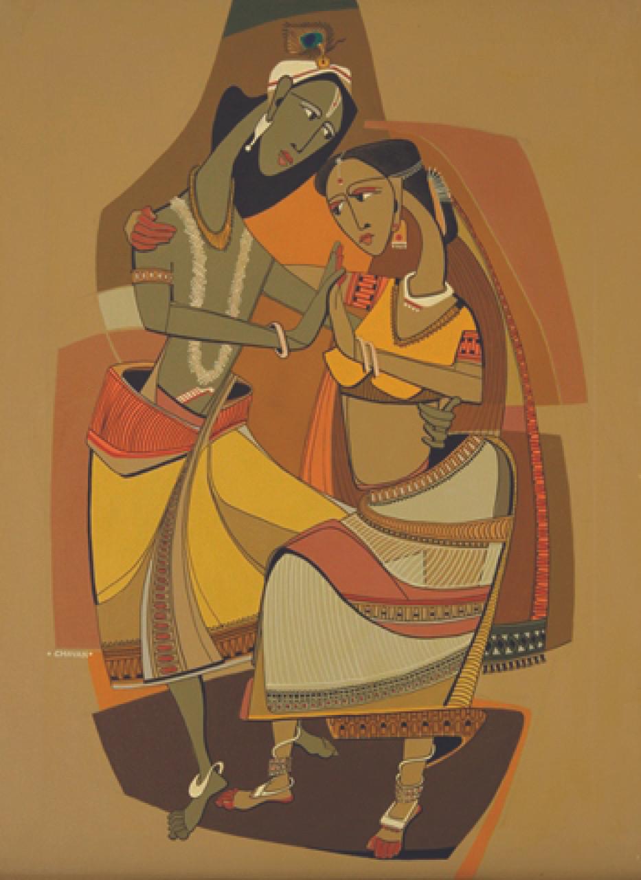 Buy Radha Krishna by Sandhya Mulik@ Rs. 18290. Code:ART_SAMK02_2230 ...