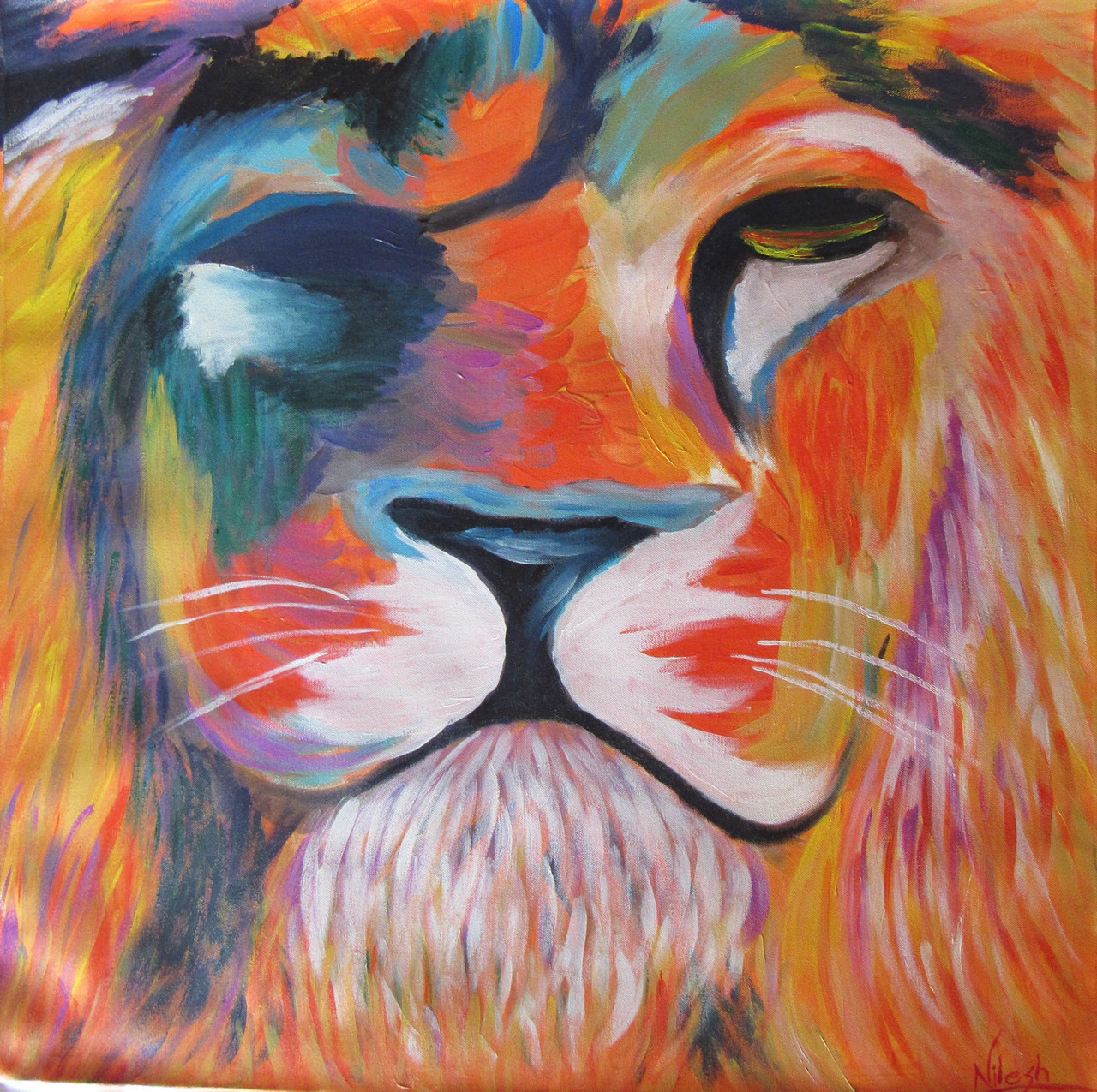 buy the indian lion unity in diversity by nilesh pimpale rs 5790 codeart_nhpe06_2424 shop art paintings online in india