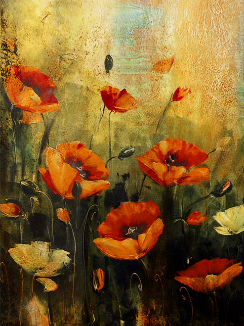 Floral Paintings Online India | Shop Flower Paintings | Rose, Roses ...