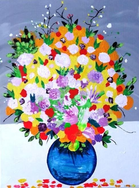 Flower Vase 30in X 40inartpiaa553040acrylic Colorsrolled