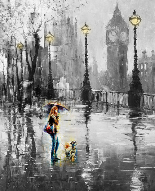 City Cityscape Girl Lady Woman With Dog