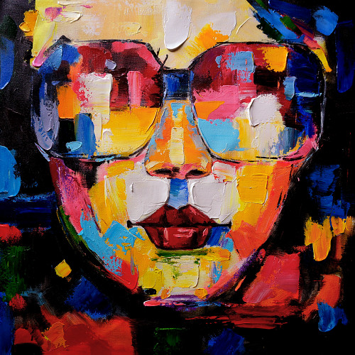 Beautiful Rocking Lady 1   Handpainted Art Painting   32in X 32in