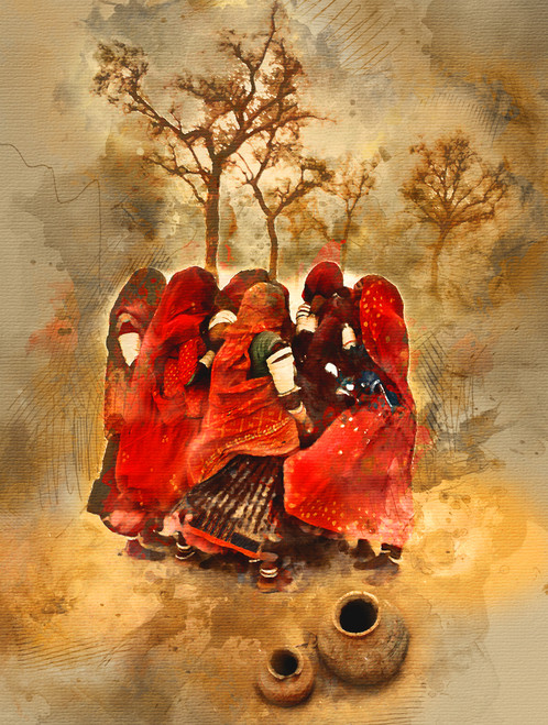 Rajasthani Women Dessert SandRajasthani WomenMTO 1550 17838Artist Community